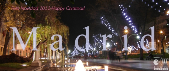 Merry Christmas from Madrid 2012.Feliz Navidad desde Madrid. CityWinks Madrid