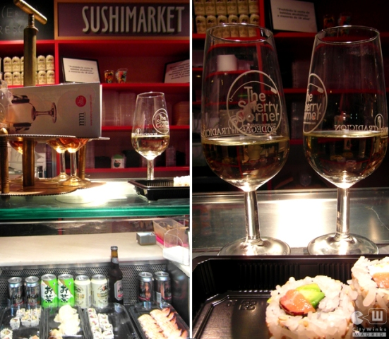 CityWInks Madrid, The Sherry Corner, Mercado de San Miguel, Sushimarket