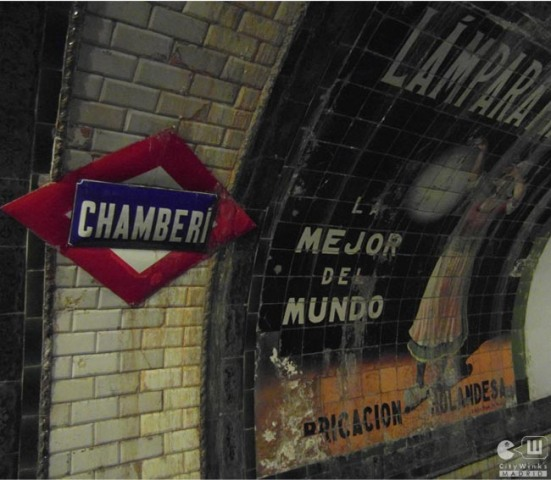 CityWinks Madrid_Estacion Fantasma_Chamberi_Metro_Madrid_Anuncio Lampara Philips